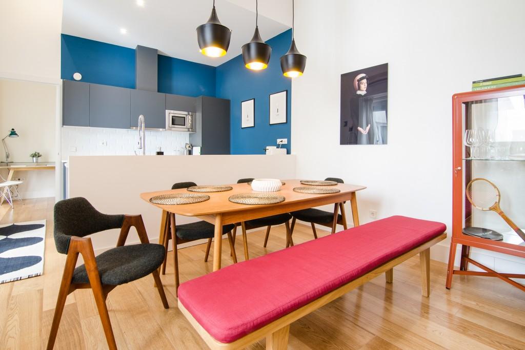Comedor-cocina, el sitio de reunión de las viviendas de alquiler vacacional